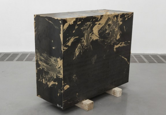 33 a Yang Xinguang - Iron Case with Gold Paint, 2014