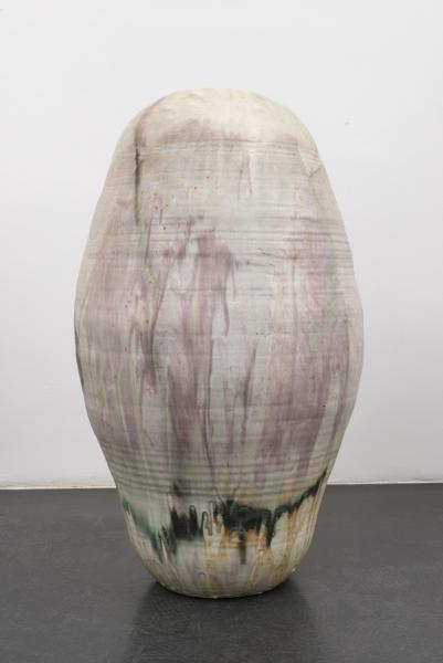 35 Toshiko Takaezu, Tall Form White and Pink, 1994