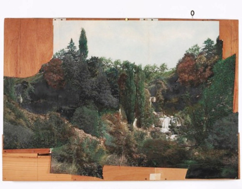 32 Marcel Duchamp Landscape collage on plywood
