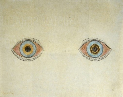 47 August Natterer, My eyes at the moment of the apparitions, 1911-1913