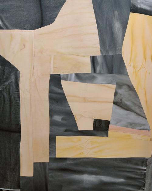34 Colleen Heslin, Potato Feelings, ink and dye on cotton and linen, 60x48″, 2015